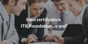 certificazione itil foundation percorso