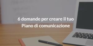 piano di comunicazione project management