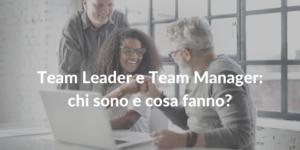 team leader e team manager