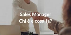 Cosa fa un Sales Manager